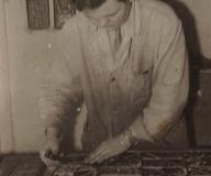 1970 - Podczas pracy w pracowni mistrza Janka