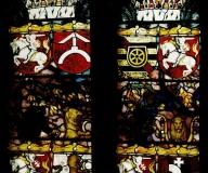 2002 Jutrosin Kościół pw. Św. Elżbiety - witraże heraldycznerenowacja