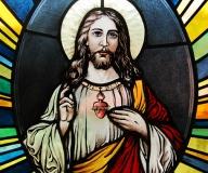2010 - Rumunia Fragment witraża - portret Jezusa Chrystusa