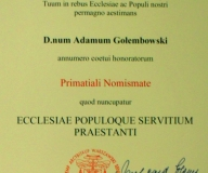 Dyplom Orderu Prymasowskiego