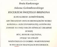 Nominacja na Kawalera łomżyńskiego