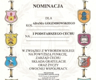 Nominacja na I Podstarszego Cechu