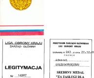 Złoty, Srebrny i Brązowy Medal za zasługi dla LOK