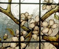 2003 - Opalenica Witraż z motywem kwiatowym - dom prywatny