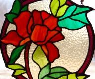 2011 - Witraż na okno z różą