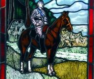 2011 - Witraż z wizerunkiem Marszałka J. Piłsudskiego. wg. obrazu W. Kossaka