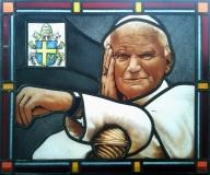 2011 - Poznań Jan Paweł 2 - portret z herbem papieskim