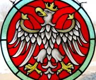 2010 - Witraż z wizerunkiem orła