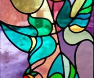 2010 - Witraż na okno z motywem kwiatowym